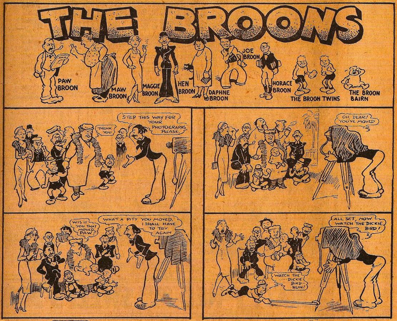 « The Broons » par Dudley Dexter Watkins et Robert Duncan Low.