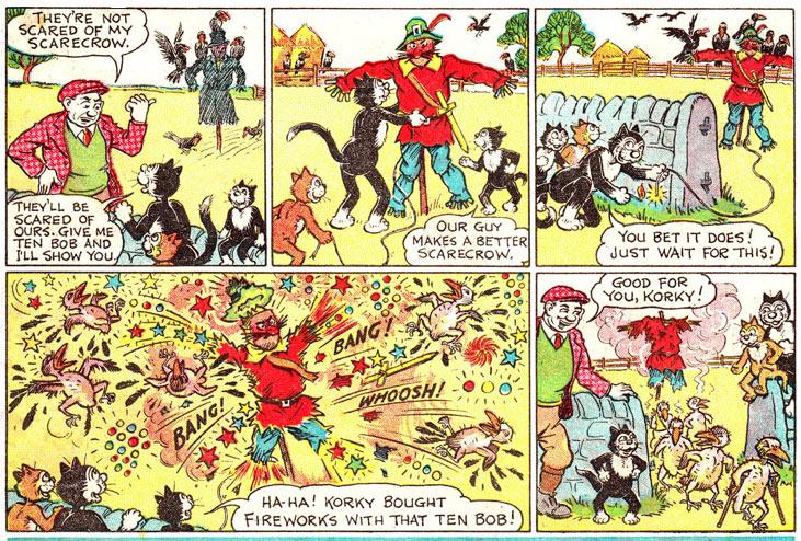 « Korky the Cat » par James Crighton.