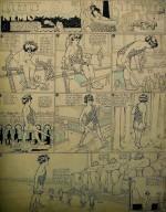 De ces pages du dimanche, il reste aussi, pour certaines, les planches originales à l'encre de Chine et au crayon bleu.