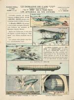 """""""Le domaine de l'air : les appareils de nos ennemis"""" - Imagerie d'Epinal (dessin de Victor Vérité)"""