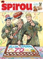Un pilote de 70 ans ! Couverture pour Spirou n° 4108 (4 janvier 2017)