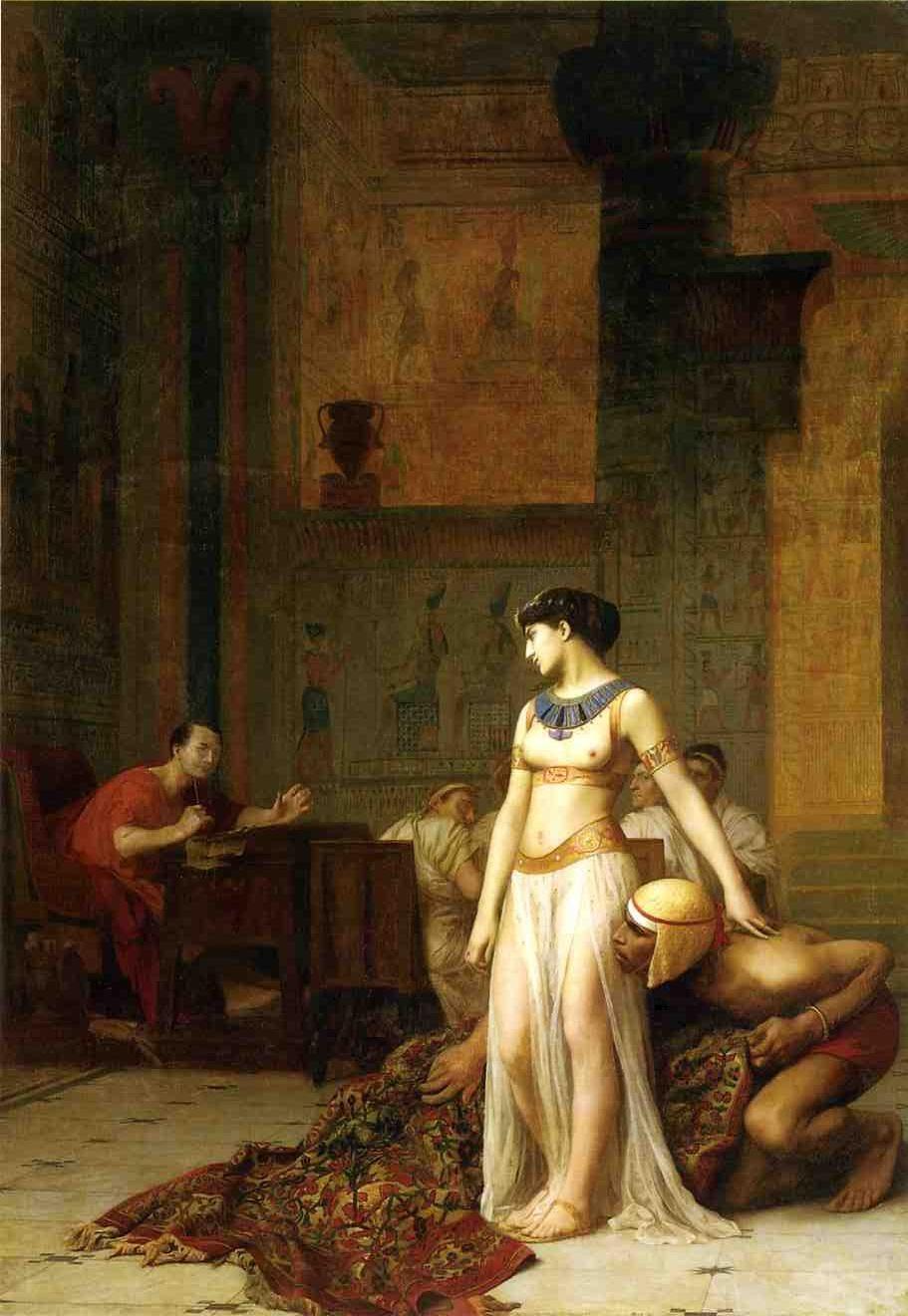 """""""Cléopâtre rencontre César"""", par Jean-Léon Gérôme (huile sur toile, 1866)"""
