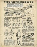 Original d'une planche didactique dessinée par Jean-Michel Charlier, publiée dans Spirou n° 570 du 17 mars 1949.