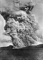 5e cliché d'une série de six de la nuée ardente du 16 décembre 1902 par Angelo Heilprin