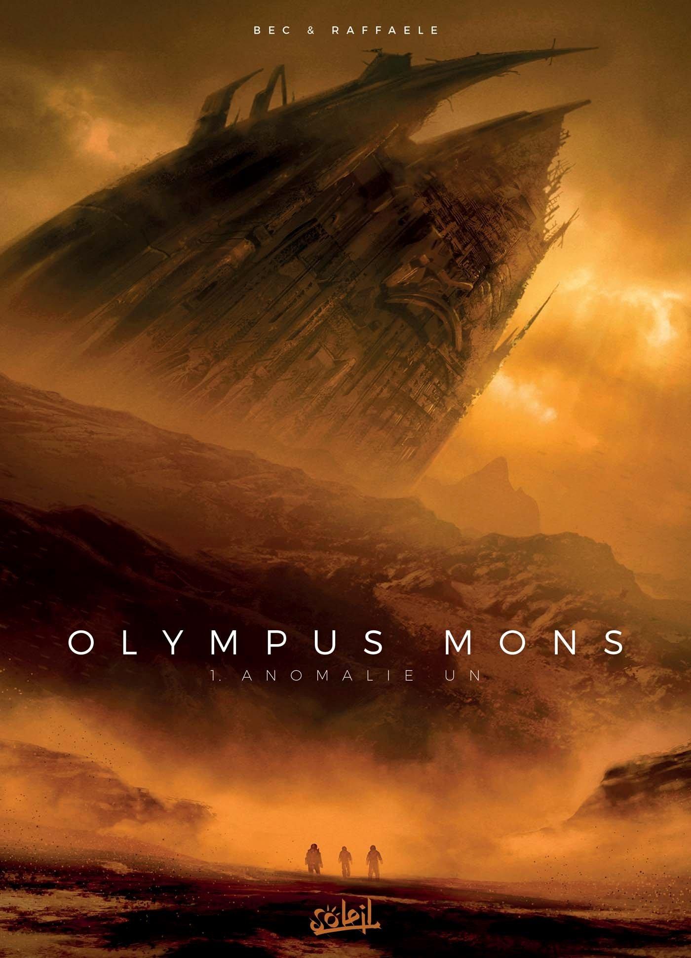 Couverture du tome 1 (Soleil - 2017) et vue du Mont Olympe, aussi large que la France !
