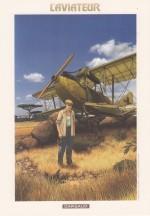 """Ex-libris pour """"L'Aviateur"""" ; dessin par Chrys Millien et Erik Arnoux (Dargaud 2016)"""