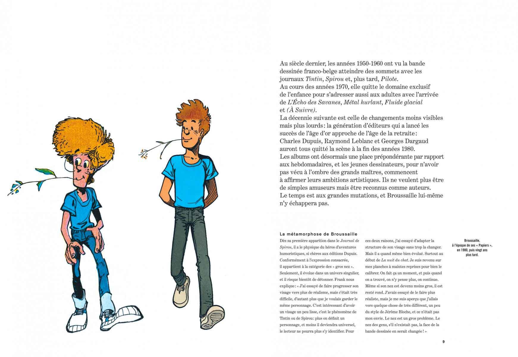 Un extrait du dossier du deuxième tome de l'intégrale « Broussaille ».