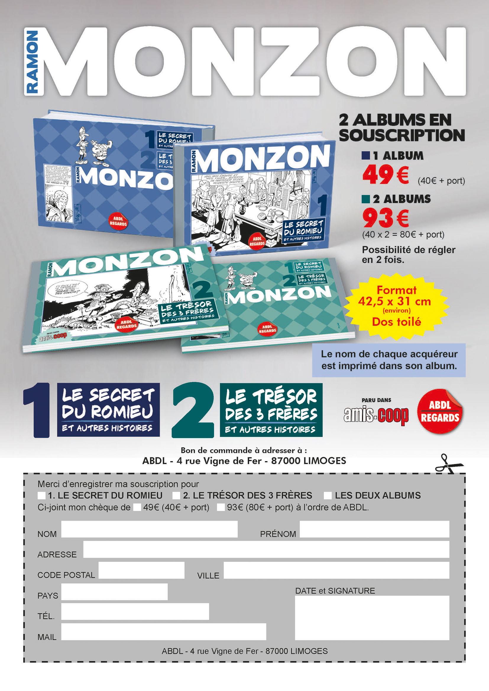 Monzon-Bon de commande 2 albums