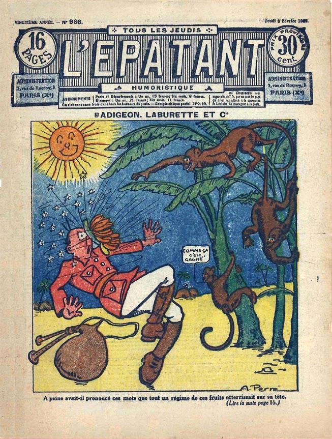 Aristide Perré est aussi l'auteur de nombreuses couvertures de L'Épatant à cette époque.