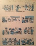 Un original de Louis Forton pour « Les Pieds nickelés en Amérique ».