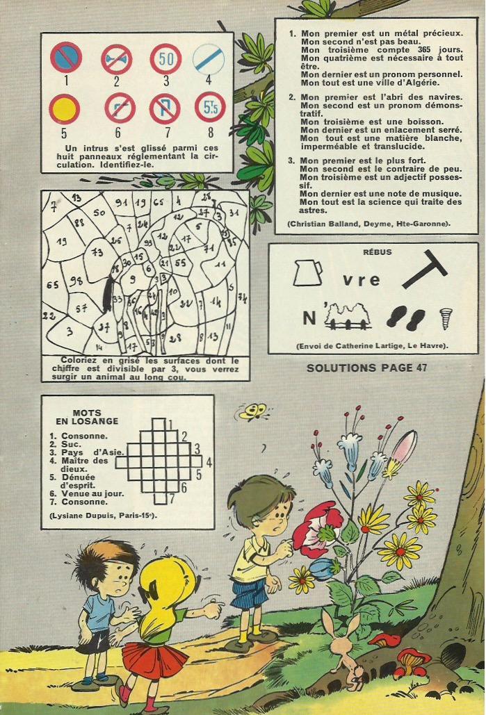 Jeux illustrés par Ramón Monzón, dans Amis-Coop (en 1965).