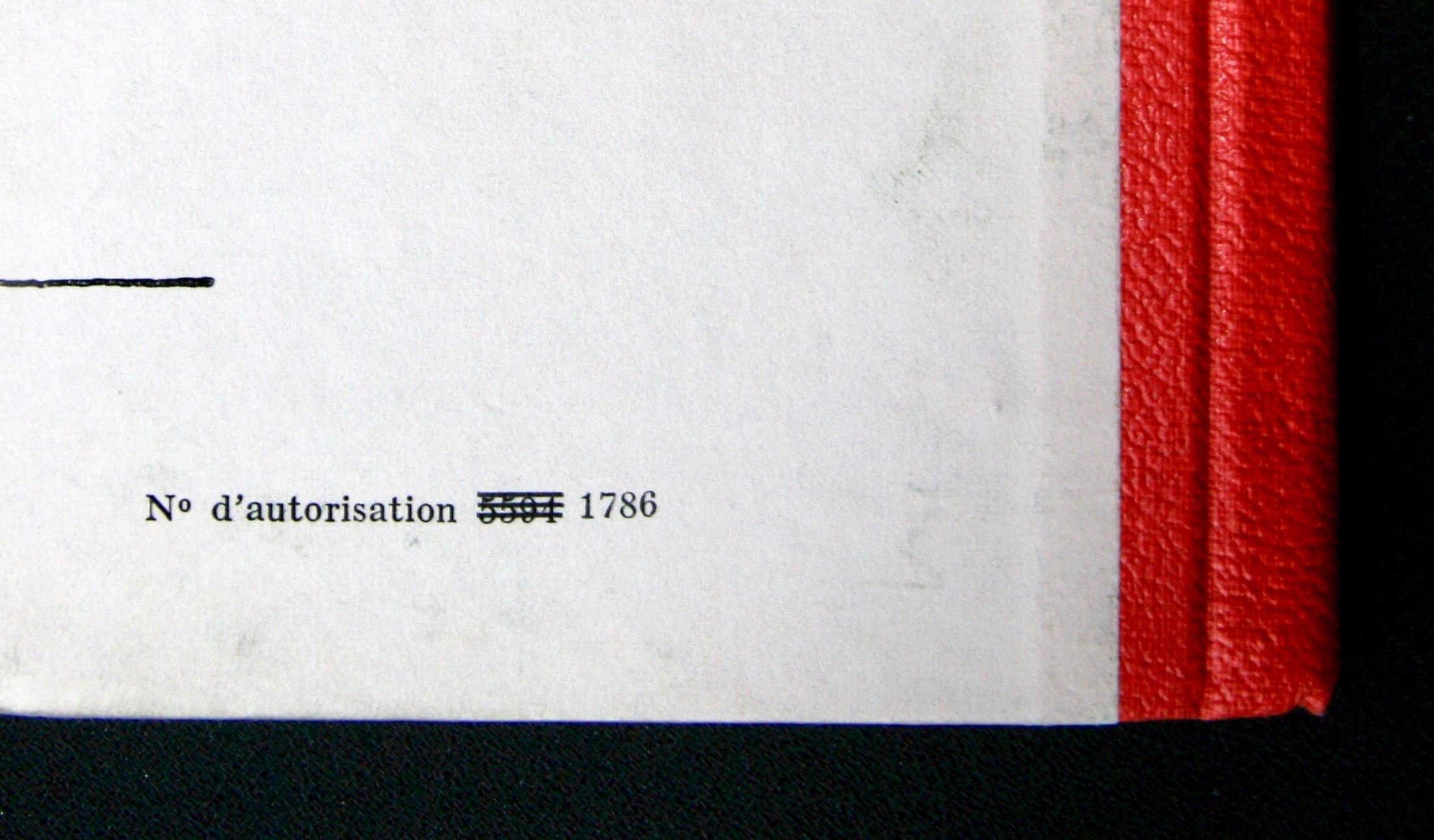 « Dos pegamoïd rouge vermillon A21».