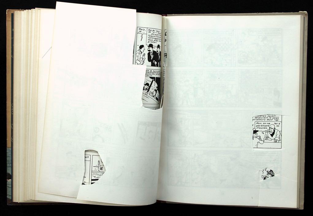 Cahiers découpés fin des années 1940 — exemplaire À la croix.