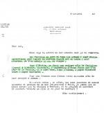 Réponse de Lesne à Hergé du 5 octobre 1943. Conséquence : deux pages sur quatre seront blanches…