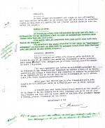 Réponse de Hergé à Lesne du 25 novembre 1943 demandant à ce que le solde soit conservé à Tournai.