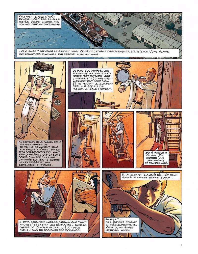 Extrait du tome 6 de « Tramp » : «  La Piste de Kibangou ».