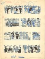 Planche originale e Louis Forton pour « Les Pieds nickelés », période 1932.