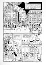 Planche originale du tome 8 de « Tramp » : « La Sale Guerre ».