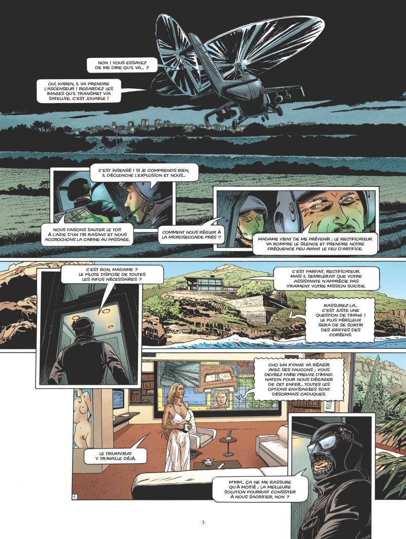 Une introduction coréenne sous tension digne de 007 (planches 1 et 4 - Glénat 2017)