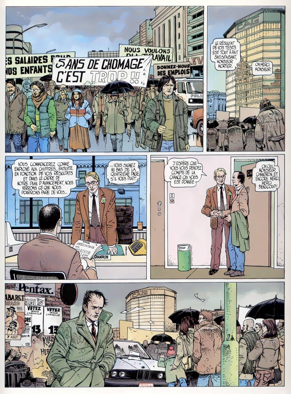 Première planche pour SOS Bonheur 1 (Dupuis, 1988)