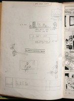 Exceptionnelles esquisses pour le cinéma en page d'ouverture, exemplaire Hergé A22.