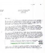 Les deux courriers qui attestent du prélèvement de 5 000 FB pour 50 albums feuilles en noir sur les comptes d'auteur de Hergé.