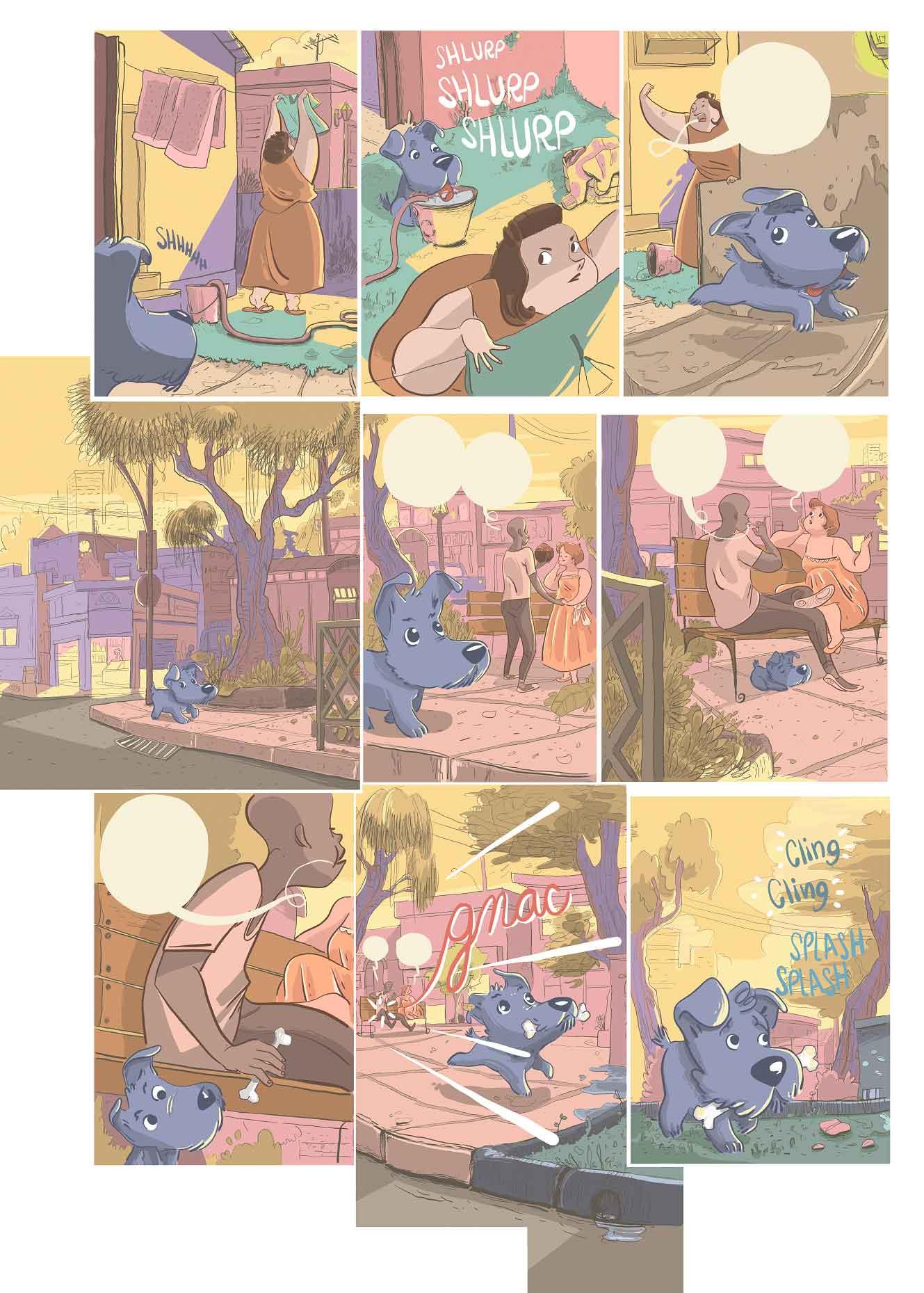 Bidou, Une vie de chien page 9