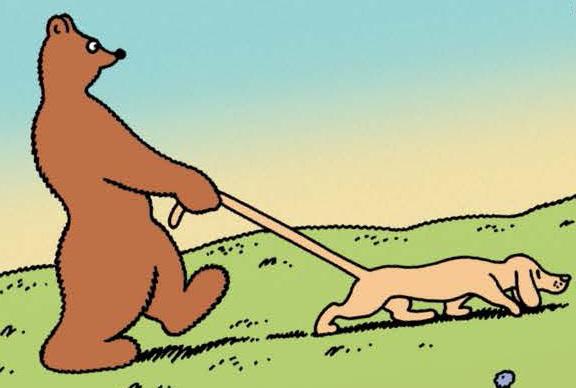 Barnabé promène son chien