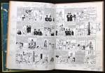 Toutes les pages recouvertes d'indications pour le passage de Tintin au cinéma.