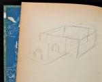 Un dessin en page de garde qui fait penser au château du « Sceptre d'Ottokar » : exemplaire Hergé.