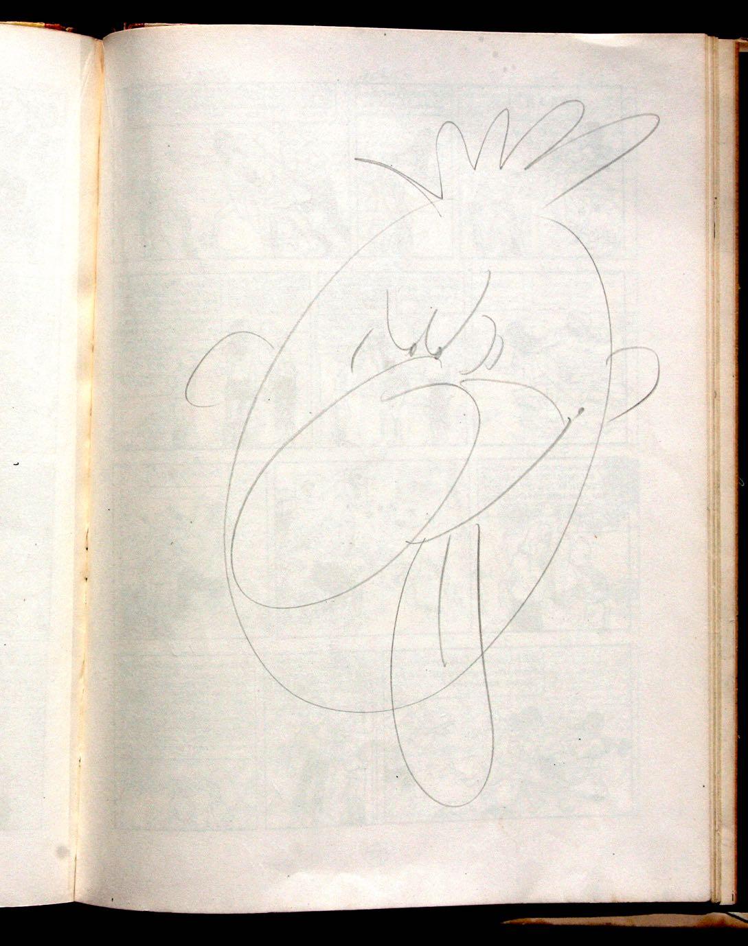 Exceptionnelle tête qui fait penser à l'époque « Alph Art » : exemplaire Hergé.