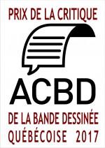 Logo Prix de la critique ACBD de la BDQ 2017