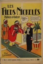 Les premières aventures des Pieds nickelés dessinées par Badert ont été compilées dans cet album publié par la S.P.E. en 1940.
