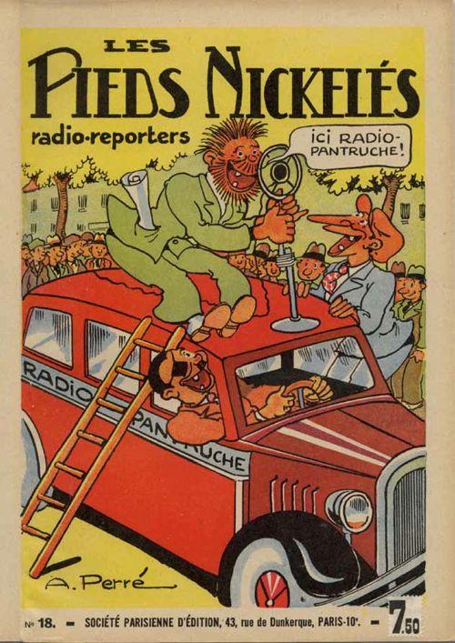 Les dernières aventures des Pieds nickelés dessinées par Aristide Perré ont été compilées dans cet album publié par la S. P.E. en 1939.