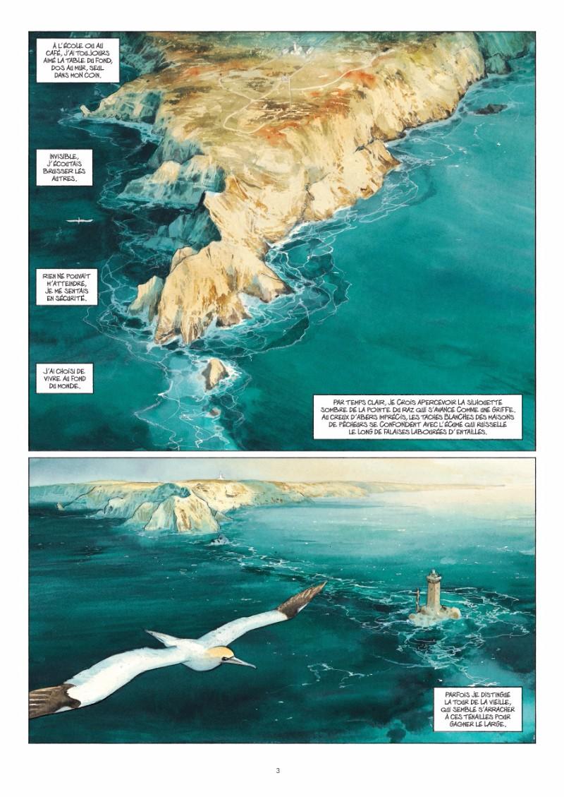 La pointe du raz et l'île de Sein (planches 1 et 2 - Futuropolis 2017)