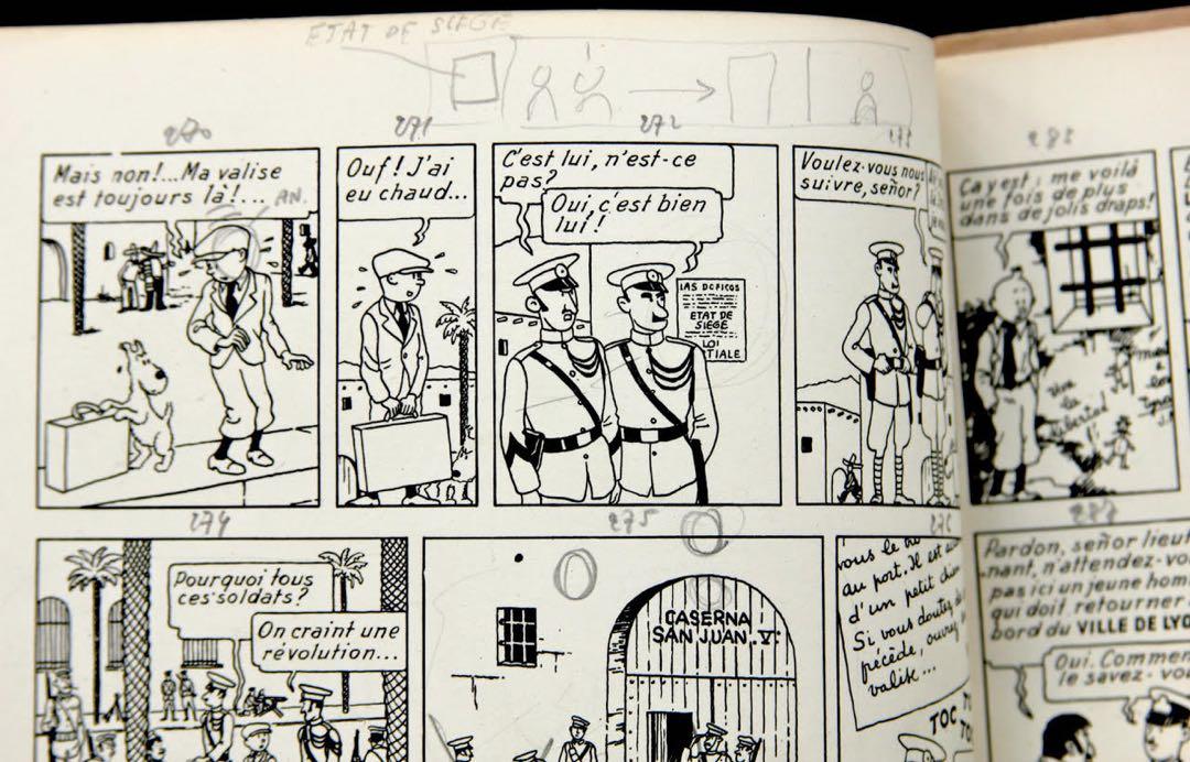 Projets de travelling dessiné, exemplaire Hergé A22.