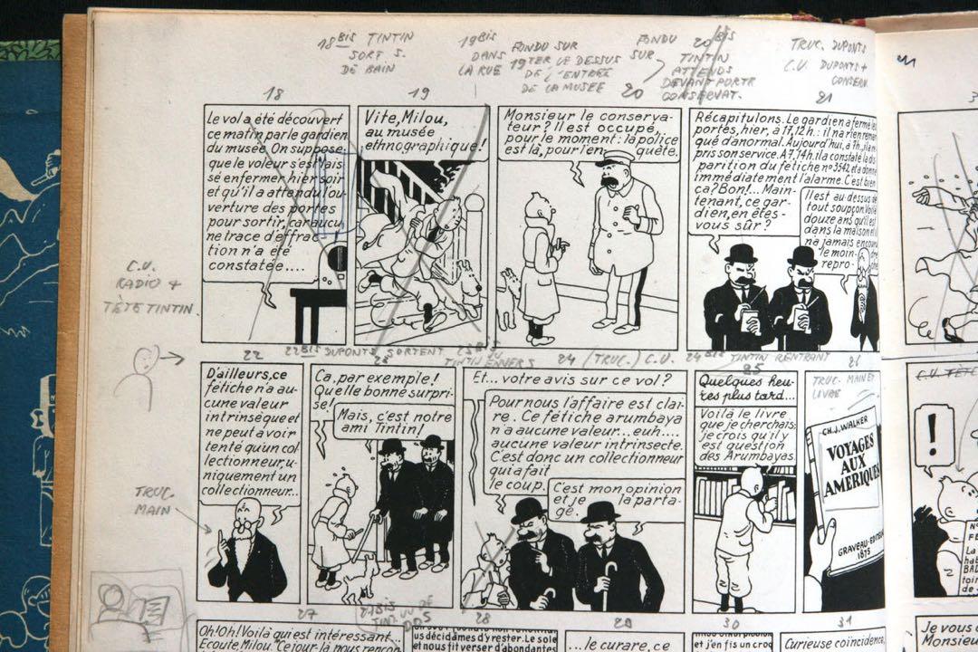 Projets de mouvements, exemplaire Hergé A22.