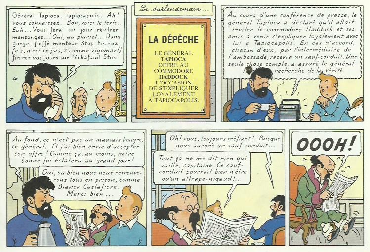 « Tintin et les Picaros » page 9.