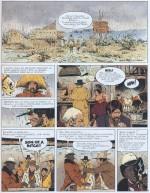 """Une ambiance et des gueules digne du western spaghetti (planche 5 de """"Mission Sherman"""")"""