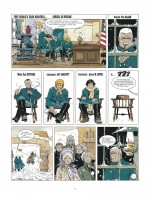 """Des personnages de face et de profil, à la manière de """"XIII"""" (planche 3 pour """"Sur ordre de Washington"""" - 1991)"""