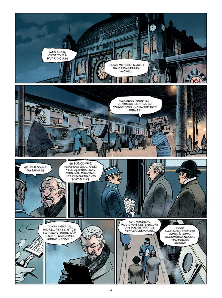 Où Poirot prend le train du crime... (planches 4 et 5 - Paquet 2017)