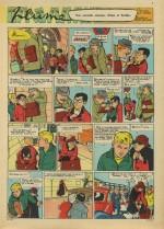 Une page d'« À coups de plume » publiée dans Cœurs vaillants, en 1962.