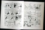 Annotations d'Hergé sur exemplaire n° 1. Hergé réduit certaines cases, prévoit un nouveau dessin…