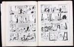Travail de Hergé au crayon bleu et rouge pages 20 et 21, exemplaires n° 1 et n° 2.