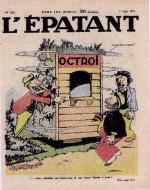 Une dernière couverture d'Albert-Georges Badert avec Les Pieds nickelés.