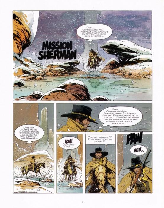 Un cavalier solitaire... (Mission Sherman, planche 1 par W. Vance)