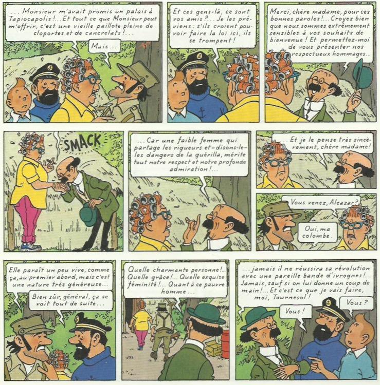« Tintin et les Picaros » page 41.