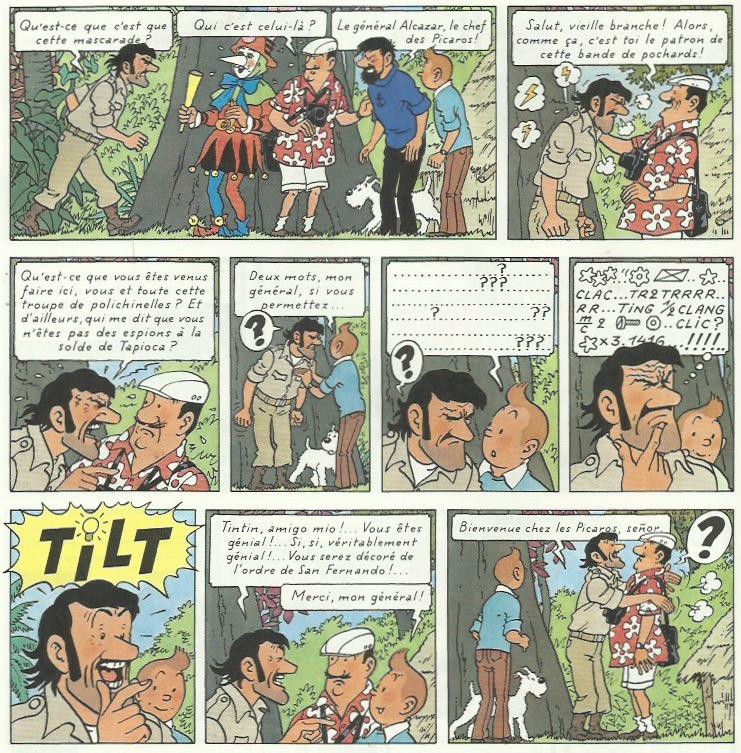 « Tintin et les Picaros » page 52.