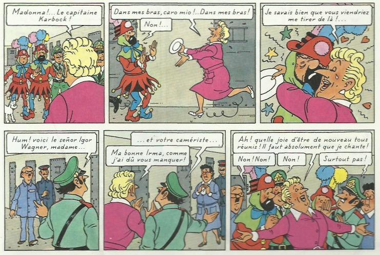 « Tintin et les Picaros » page 61.