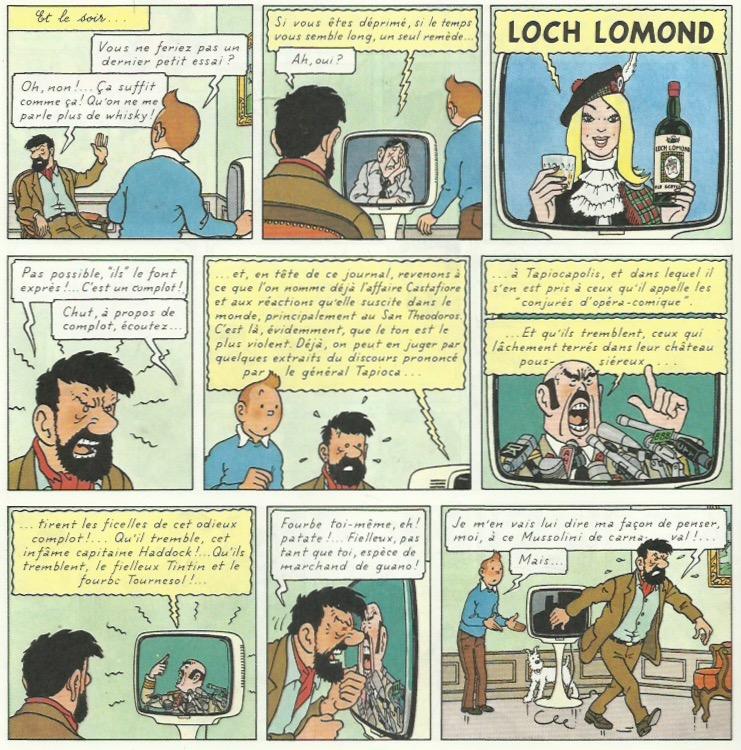 « Tintin et les Picaros » page 8.